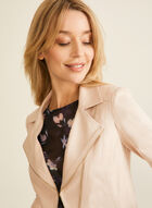 Vex - Zipper Detail Faux Leather Jacket, Pink