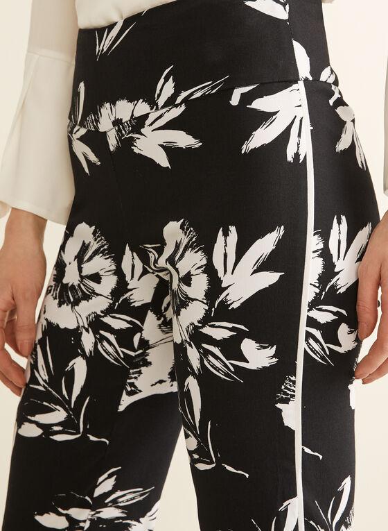 Capri pull-on à fleurs, Noir