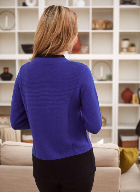 Two Tone Colour Block Pullover, Blue