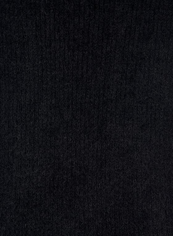 Fuzzy Textured Scarf, Black