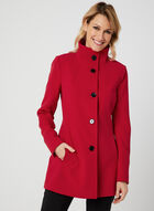 Nuage - Standing Collar Coat, Red, hi-res
