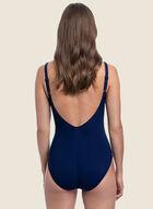Profile by Gottex - Zipper Detail One-Piece Swimsuit, Blue