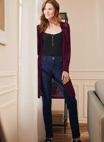 Jeans à jambe droite , Bleu,  jeans, jambe droite, automne hiver 2020
