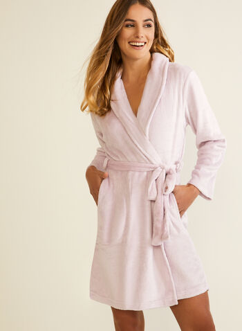 Plush Robe & Socks Set, Purple,  fall winter 2020, robe, socks, sock, set, plush, fleece, robe & socks, pyjamas, loungewear, bathrobe