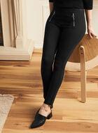 Legging coupe cité à détails zips, Noir