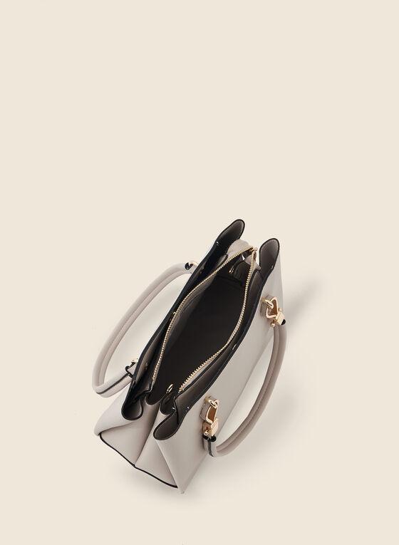 Large Satchel Handbag, Off White