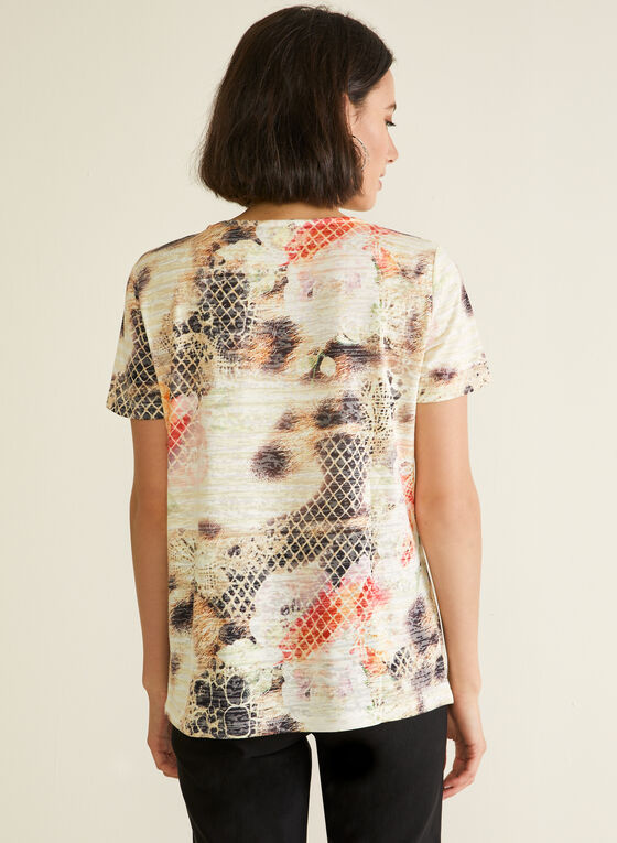 Abstract Animal Print Tee, Brown