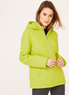 Lightweight Quilted Coat, Green, hi-res