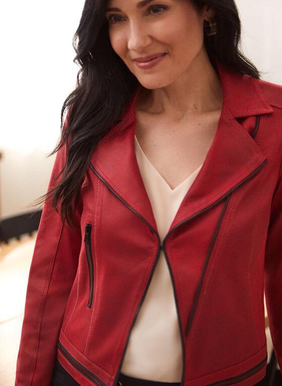 Vex - Faux Suede Jacket, Red