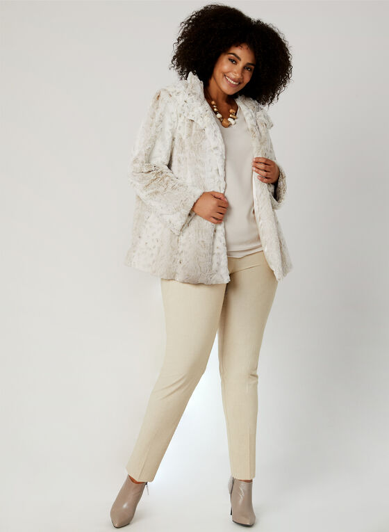 Novelti - Faux Fur Coat, Off White