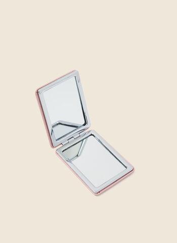 Rectangular Compact Mirror, Pink,  mirror, compact, spring summer 2020