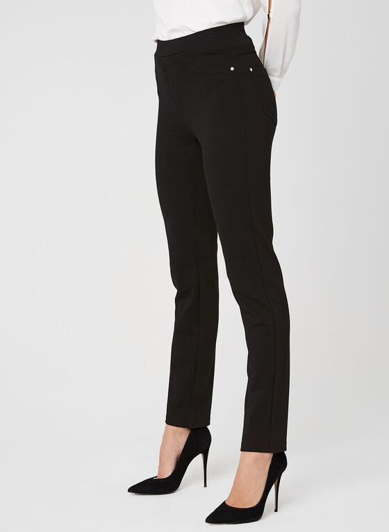 Vex - Pantalon pull-on à jambe droite , Noir, hi-res