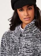 Novelti-Faux Fur Reversible Coat , Black, hi-res