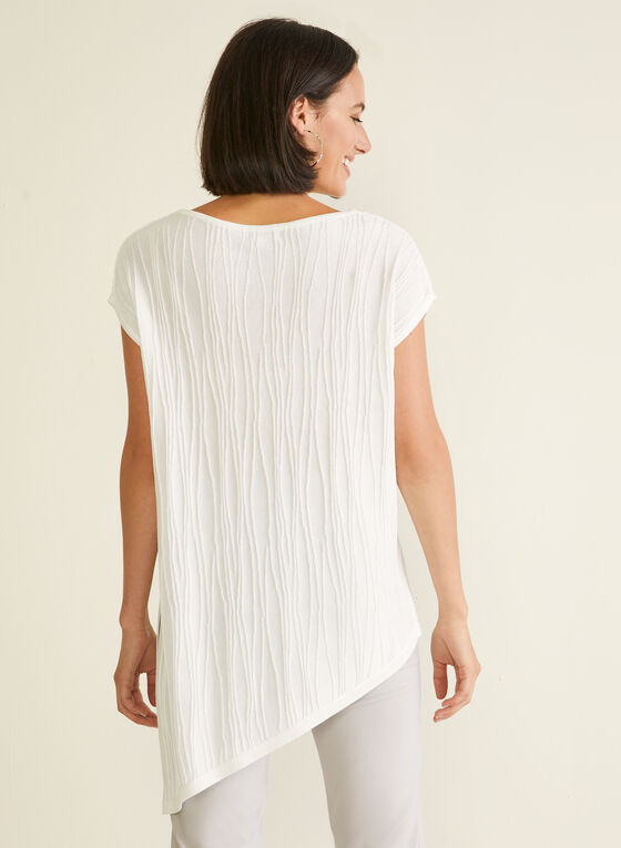 Short Sleeve Asymmetric Top, White