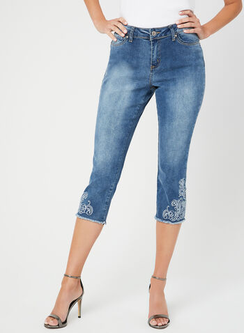 GG Jeans - Modern Fit Denim Capri Pants, Blue, hi-res