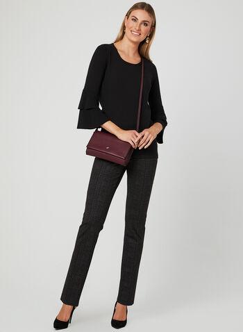 Elena Wang - Pull en tricot et manches cloche, Noir, hi-res