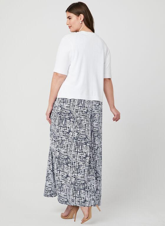Boléro ouvert en tricot, Blanc