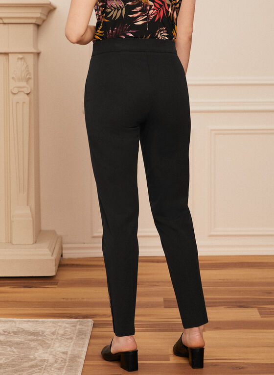 City Fit Pull-On Pants, Black