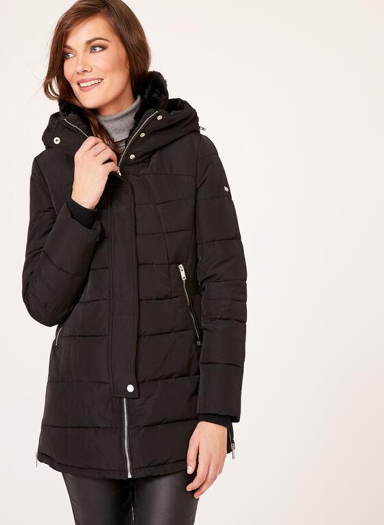 Novelti - Manteau matelassé avec col montant en fausse fourrure, Noir, hi-res