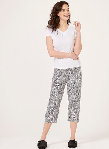 Hamilton - Ensemble pyjama à motif léopard, Blanc, hi-res