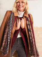 Stretch Wool Blend Structured Coat, Brown