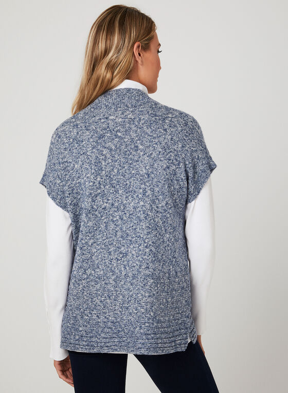 Short Sleeve Cardigan, Blue, hi-res