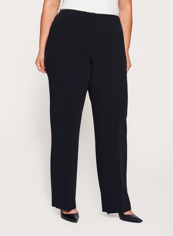 Louben - Pantalon à jambe droite , Noir, hi-res
