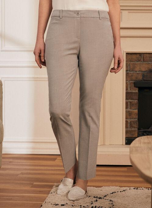 Modern Fit Straight Leg Pants , Grey