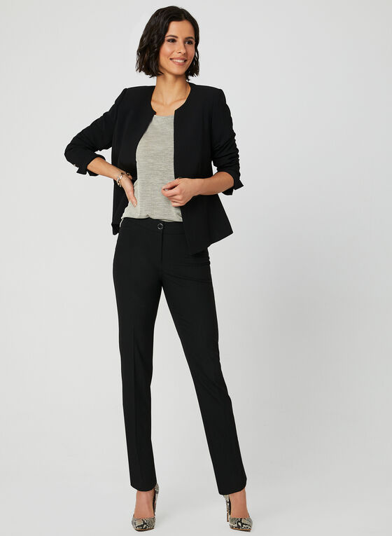 Textured Sleeveless Top, Black, hi-res