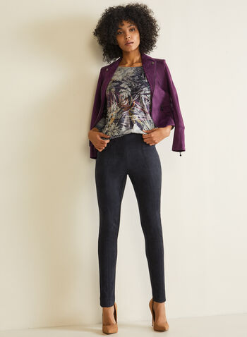 Vex - T-shirt fleuri et animalier, Violet,  t-shirt, manches longues, animalier, fleurs, automne hiver 2020
