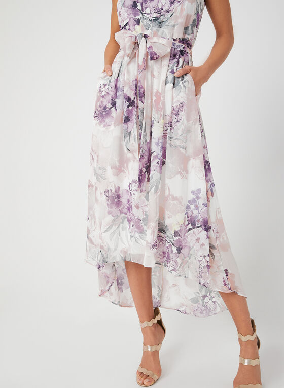 Shimmer Chiffon Maxi Dress, White, hi-res