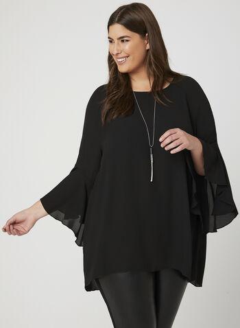 Vex - Long Sleeve Crepe Blouse, Black, hi-res