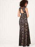 Lace Mermaid Dress, Black, hi-res