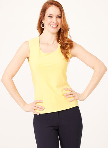 Basic Scoop Neck Camisole, Yellow, hi-res