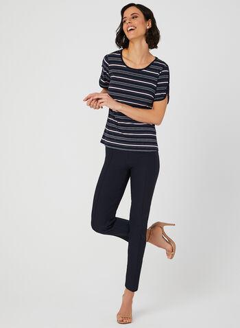 Stripe Print Jersey T-shirt, Blue, hi-res