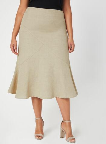 Linen Maxi Skirt, Off White, hi-res