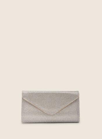 Pochette enveloppe à cristaux, Or,  pochette, cristaux, enveloppe, printemps été 2020