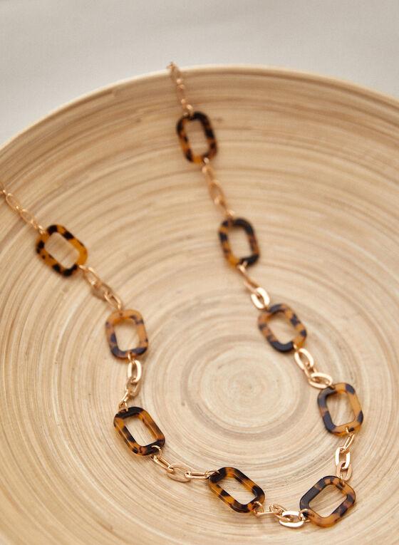 Large Link Necklace, Brown