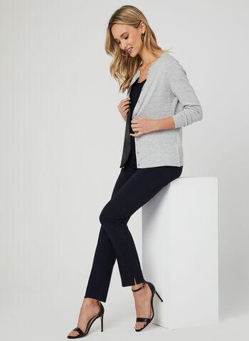 Pantalon coupe moderne à jambe droite, Bleu, hi-res,