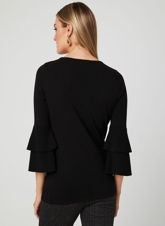 Elena Wang - Bell Sleeve Sweater, Black, hi-res