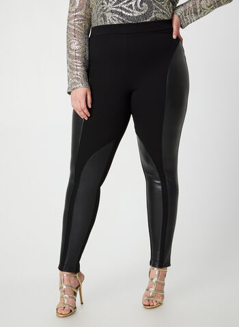 Joseph Ribkoff - Ponte de Roma Leggings, Black, hi-res,  Joseph Ribkoff, online exclusive, Canada, leggings, Ponte de Roma, slim leg, pull on, elastic waist, fall 2019, winter 2019