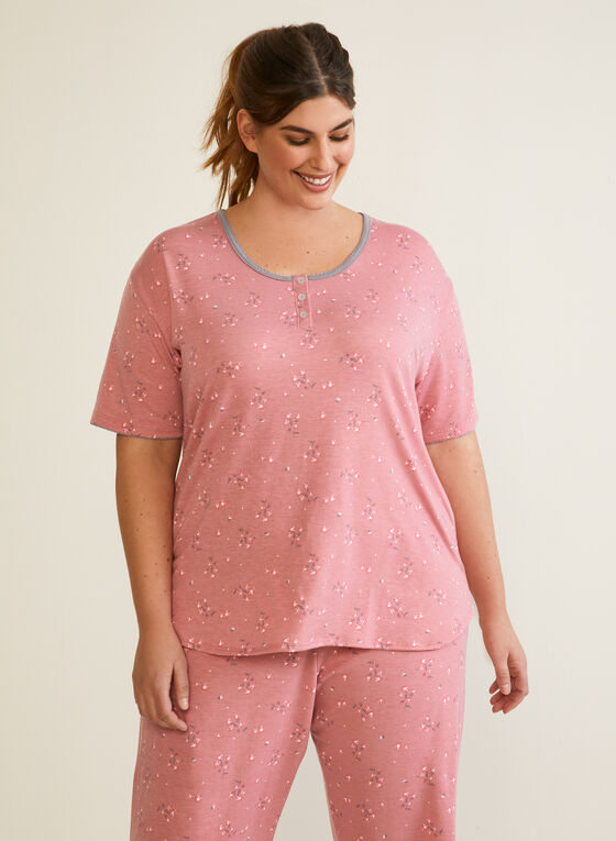 Ensemble pyjama à manches courtes, Rose