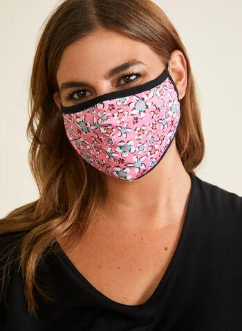 Bright Safe Care - Masque en tissu motif floral, Rose,  masque, floral, coton, ajustable, automne hiver 2020