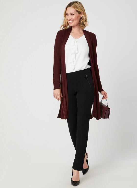 Modern Fit Ankle Length Pants, Black, hi-res