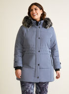 Vegan Down Quilted Coat, Blue