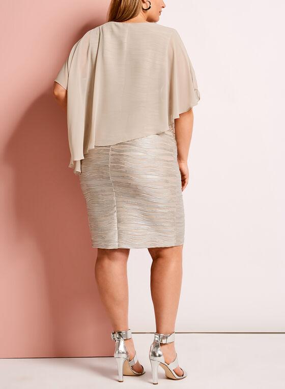 Lyman by Frank Lyman Embellished Poncho Dress, White, hi-res