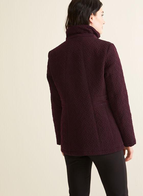 Manteau matelassé en duvet végane, Violet