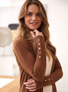 Open Front Knit Cover Up, Brown