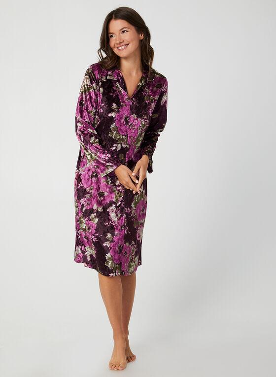 Hamilton - Robe de nuit longue en velours, Violet