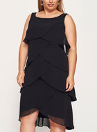 Crystal Embellished Tiered Dress, Black, hi-res